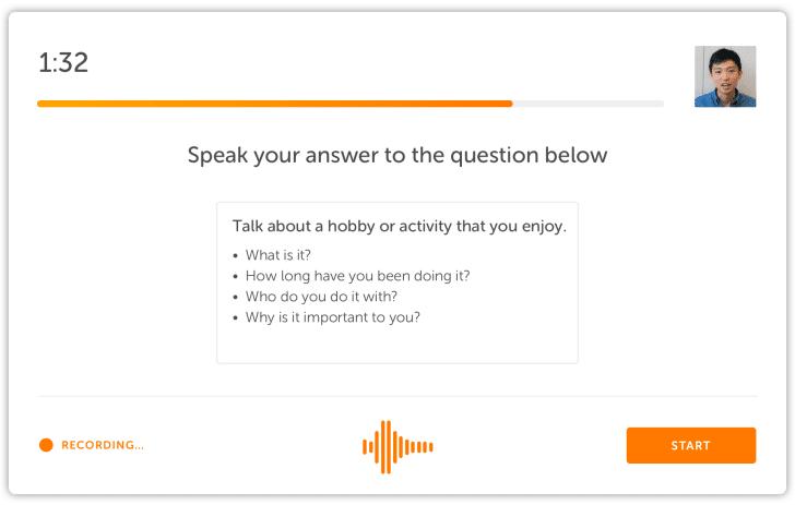 پاسخ به سوالات نوشتاری در آزمون Duolingo