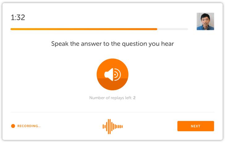 پاسخ به سوالاتی که می شنوید در آزمون دولینگو